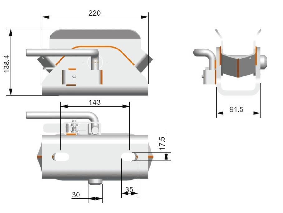 Sprzęg SBR-80 - schemat
