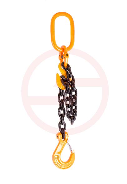 Zastosowanie haka skracającego - regulacja długości zawiesia łańcuchowego
